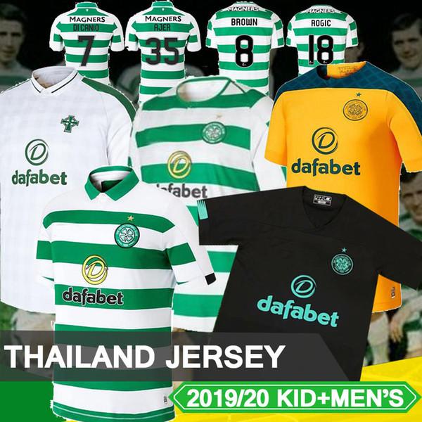 Thailand 2019 2020 Glasgow Celtic third gray Soccer Jersey 19 20 Celtic BITTON BROWN ROGIC CHRISTIE 2020 Celtic FC Football Shirt soccer
