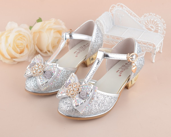 5f9337cd7f Flowers Girls Princess Sandals 2019 New Brand Summer Children Wedding Shoes  For Student Glitter Kids Party Shoe Size 27~37 Kids Girls Shoes Toddler ...