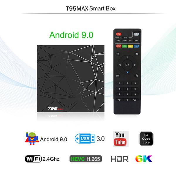 T95 MAX Smart Android 9.0 TV Box Allwinner H6 Quad Core T95Max 2.4GHz Wifi USB 3.0 4K Set Top Box
