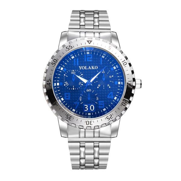 Relojes de negocios Hombres Diseño retro Banda de acero inoxidable Reloj de cuarzo analógico para hombres Impermeable Deporte Digital Relogio masculino