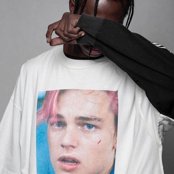 19SS ARNODEFRANCE Moda Leonardo Retrato Imprimir Tee Logotipo clásico Transpirable Camiseta Casual Street T-shirt Hombres Mujeres manga corta HFSSTX001