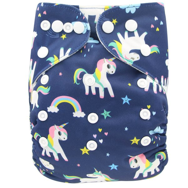 top popular Flamingo Pineapple Reusable Pocket Diaper Cover Adjustable Washable Suede Baby Nappies Stylish Cartoon Printed Potty Training Underwear 2019