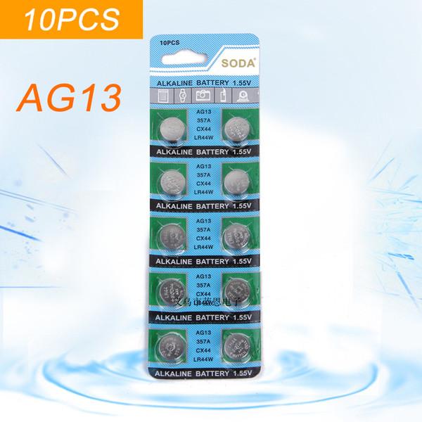 Süper tercihli 10 ADET / ARAÇ alAlkaline Hücre AG13 Düğme hücre Toptan için AG13 LR44 SR44SW SP76 L1154 RW82 RW42 357A