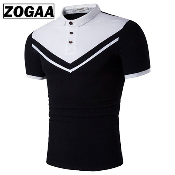 best selling FBE&CDG Men Short Sleeve Golf T-shirt Men Bussiness Casual Black White Patchwork T-shirt High-quality Cotton Golf Train T-shirts