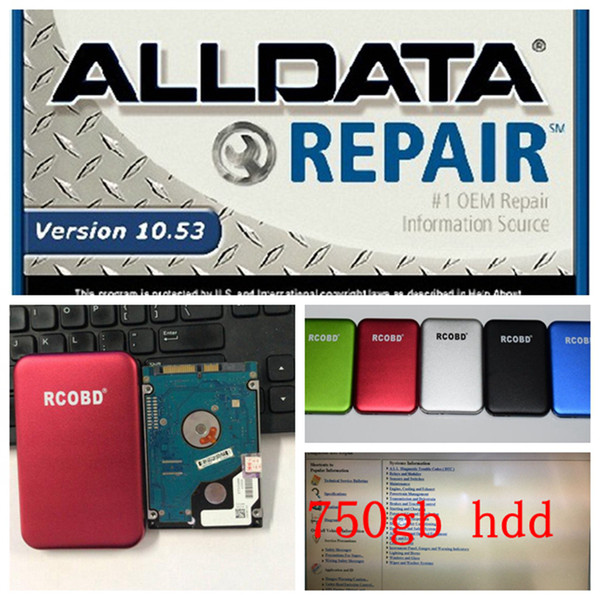 2019 alldata 10.53 all data auto repair software alldata software in 750gb hdd usb3.0 for cars and trucks fit windows 7/8