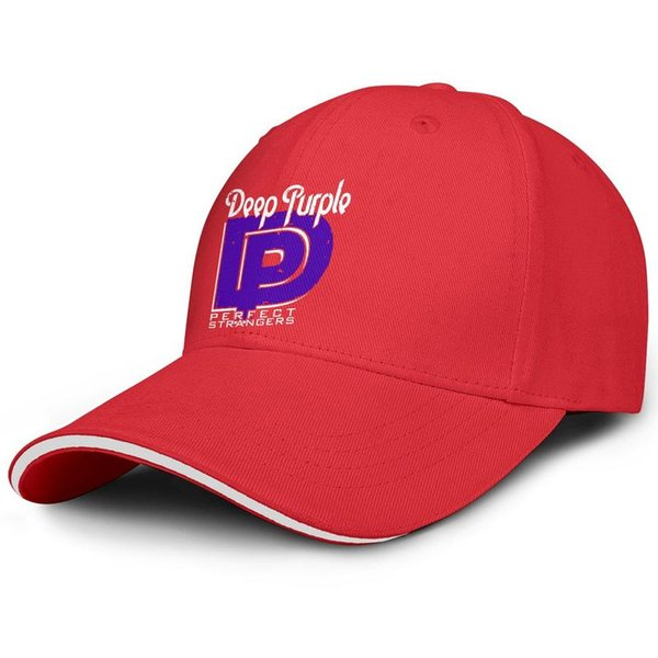 Deep Purple Strangers Logo red man sandwich hat truck driver cool fit golf hat sports fashion baseball personalized cap fashion personali
