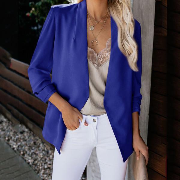 Mujeres Abrigo Damas Tops Cárdigan Negocios Tallas grandes Outwear Moda Oficina Slim Fit Chaqueta Trabajo