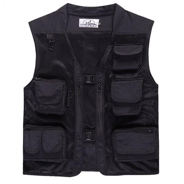 top popular Summer Outdoor Men Camouflage Mesh Photography Vest Multi-pocket portable Breathable Quick Dry Light Fishing Vest Casacos 2020