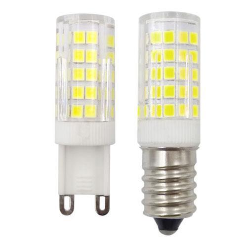 Paket von 5, G9 E14 europäischen C7 64-2835 SMD LED Glühbirne Keramik Lampe 5W 220V / 240V weiß / warm