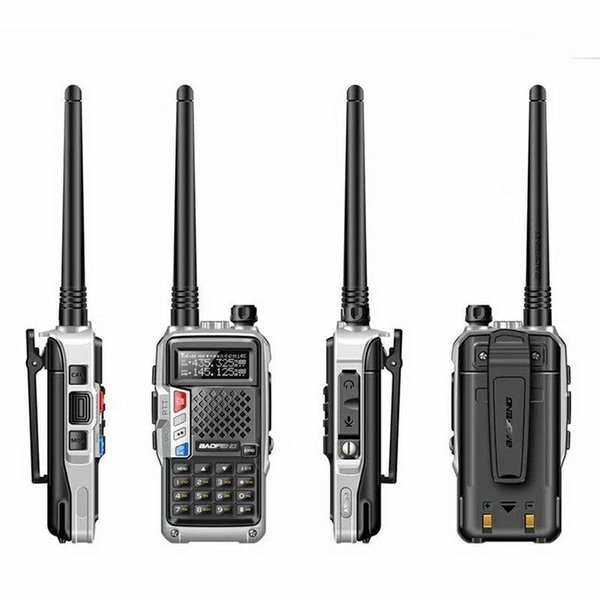2x FLOUREON XF-638 Walkie Talkies UHF400-470MHz Two-Way Radio 3KM Interphone 8CH