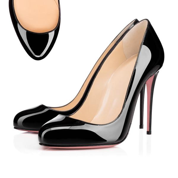 Round Toe Leather Black
