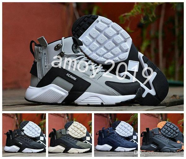 Air Huarache 6 X Acronym City Mid Leather High Top Huaraches Mens Trainers Running Shoes Men Huraches Zapatos Hurache Sneakers