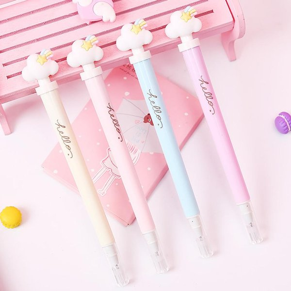 Cloud Star Light Gel Pen Signature Writing Pen School Stationery Supplies Holiday Gift