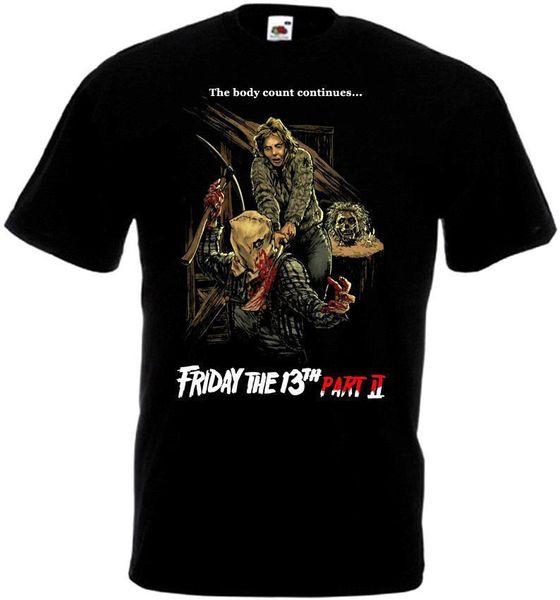 Friday The 13th 9 Movie Poster Homme Funny Tee Shirt Uomo Streetwear 2019 T Shirt Fashion 2019 T Shirt Skull T-shirts Xxxxl