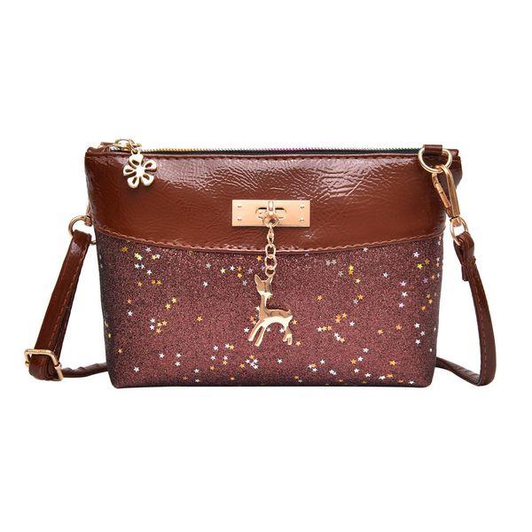 Cheap Fashion Fashion Women Girl Bling Sequins Flap Bags Pretty Deer Crossbody Shoulder Bags Popular JUNE2
