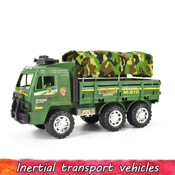 Инерциальный военный литья под давлением грузовик модель автомобиля камуфляж моделирование армия транспорт Автомобиль игрушка для мальчика детские образовательные отступить игрушка
