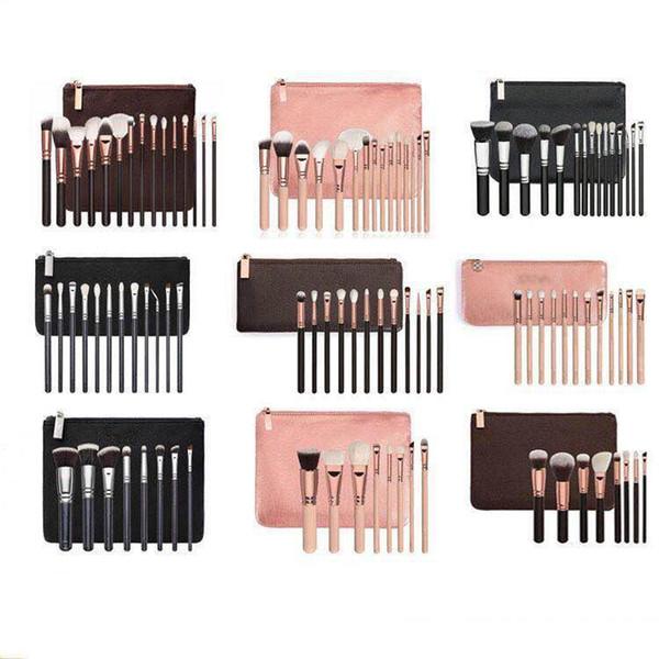 New Brand Z*OEV@ Brush Set Professional Makeup Brush Set Eyeshadow Eyeliner Blending Pencil Cosmetics Tools With makeup PU Bag DHL