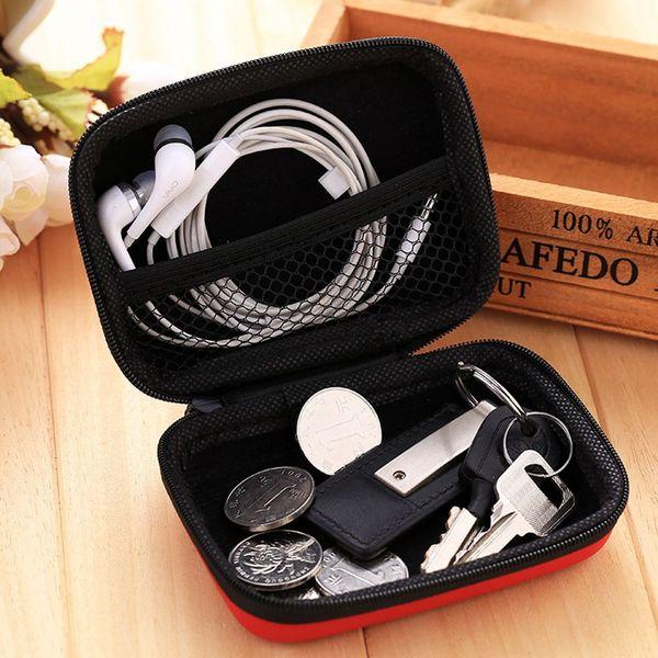 10 * 8 * 4 cm Zipper Casque Cas En Cuir PU Écouteur Sac Usb Câble Organisateur Pour Fidget Main Spinner Jouet Focus ADHD