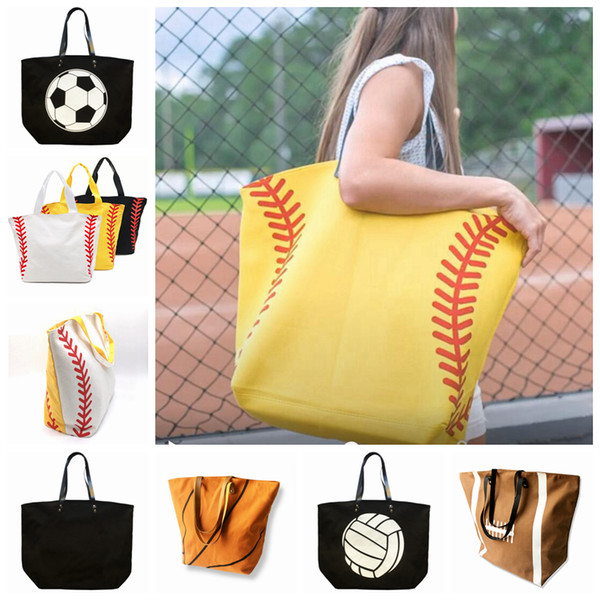 Mode européenne et américaine de sport fitness sac de rangement simple sac de toile sac de football de balle-molle sac à main de football 9 couleurs ZZA1014