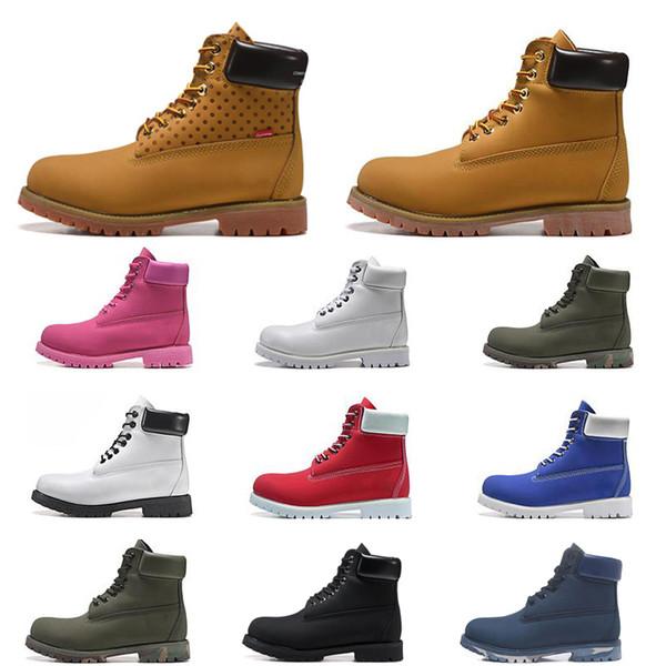 Yeni kalite lüks tasarımcı erkekler kadınlar botlar kahverengi üçlü siyah beyaz lacivert moda Martin Boot açık koşu yürüyüş ayakkabısı mens kestanli