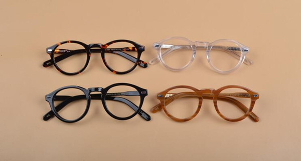 Designer New vintage Miltzen Johnny Depp Prescription Glasses Optical Eyeglasses Anti-blue Myopia Glasses Frame With Org Box