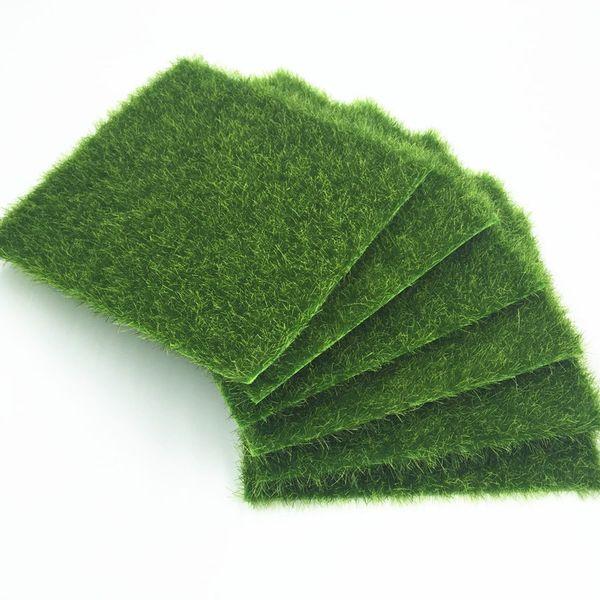 Decorations Artificial Plants 30Pcs Grass Mat Green Artificial Lawns 15x15cm Small Turf Carpets Fake Sod Home Garden Moss For home Floor