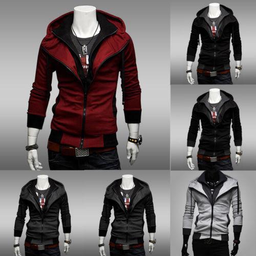 2019 Nueva otoño invierno capa de la chaqueta de los hombres Casual Slim Fit Zip Fleece chaqueta con capucha de la capa caliente grueso con el bolsillo Outwear el tamaño M-4XL