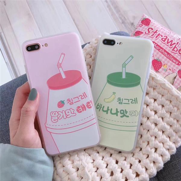 One Piece cassa del telefono TPU bello e di modo per l'iPhone 6S 7 8 P X XS telefono Designer indietro coprire il succo di frutta