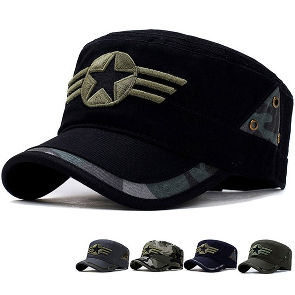 Tactical Camouflage Cap Men Casual Militar Army Soldier Camo Snapback Hat Outdoor Combat Camping Embroidery Baseball Sun Hat