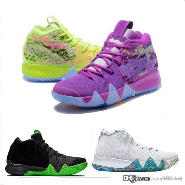 Kyrie IV Confetti Multicolor BHM EQUALITY All-Star March Madness City Guardians London Mamba Basketball 4 Shoes