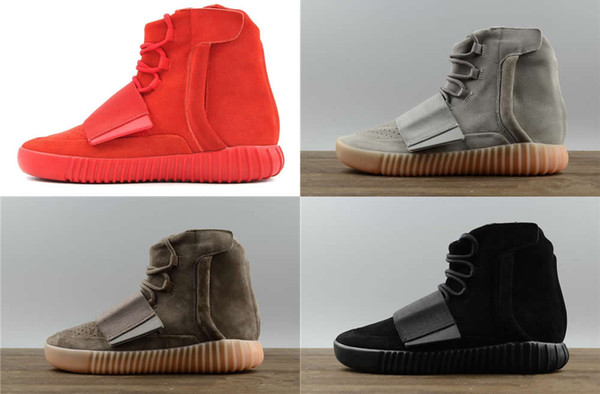 best selling designer shoes Kanye West 750 boots Light Grey Brown sneakers Triple Black Grey sport shoes 750 Outdoor boots hiking jogging shoes