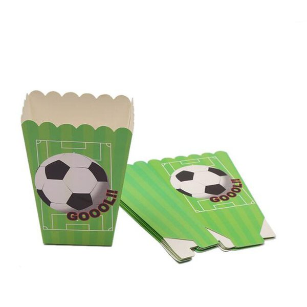 Football Theme Popcorn Box Snack Decoration Box Party Accessories Decorations for Kids Happy Birthday Supplies ZC0598