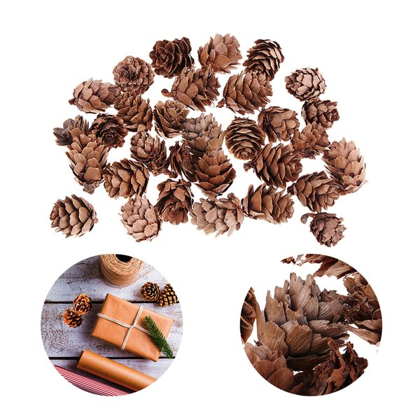 90 Pieces Vintage Real Natural Small Pine Cones Pinecone for Photo Props Decoration Christmas Xmas Wedding Party Ornament