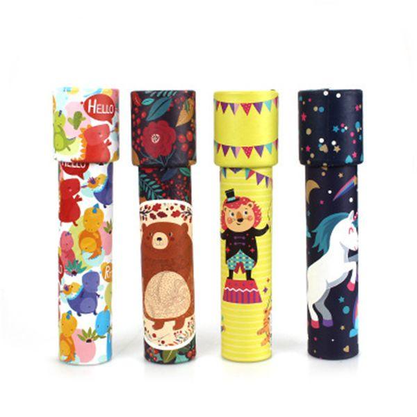 Çocuklar Güzel Oyuncak Çocuk Oyuncakları Için En Iyi Hediye Çocuk Için Rastgele Dönen Kaleidoscope Unicorn Rotasyon Fantezi Dünya Bebek Yeni Yıl hediyeler