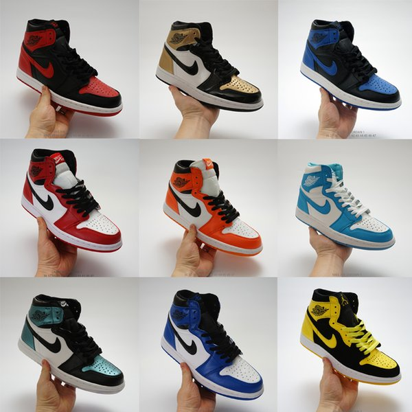 2019 Hot Brand Mens Womens Fashion Designer Shoes Sneakers J1 1s Jd 1 High Basketball Shoes White Black Red Blue Grey High Quality Sale From