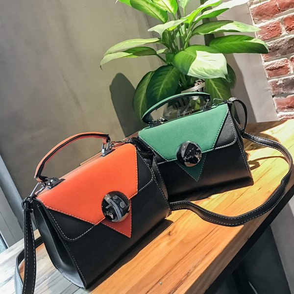 2018 New Arrival Fashion Patchwork Women Small Shoulder Bags Female Crossbody Bag High Quality Ladies Handbag Clutch Retro Tote
