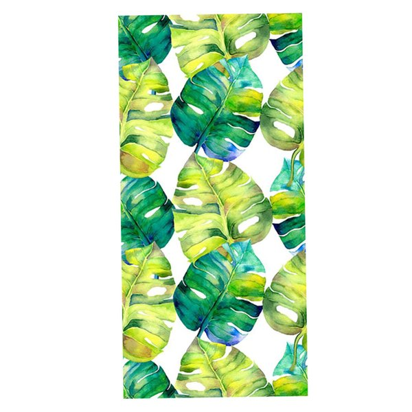 best selling Tropical Style Stained Window Film Privacy Frosted Glass Sticker, 120*58cm, 7 Patterns Available