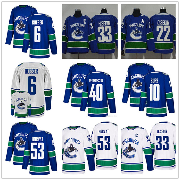 outlet store f13e3 eb448 2019 Cheap Mens Youth Vancouver Canucks 40 Elias Pettersson Hockey Jerseys  Stitched 6 Brock Boeser 53 Bo Horvat Vancouver Canucks Jersey From ...
