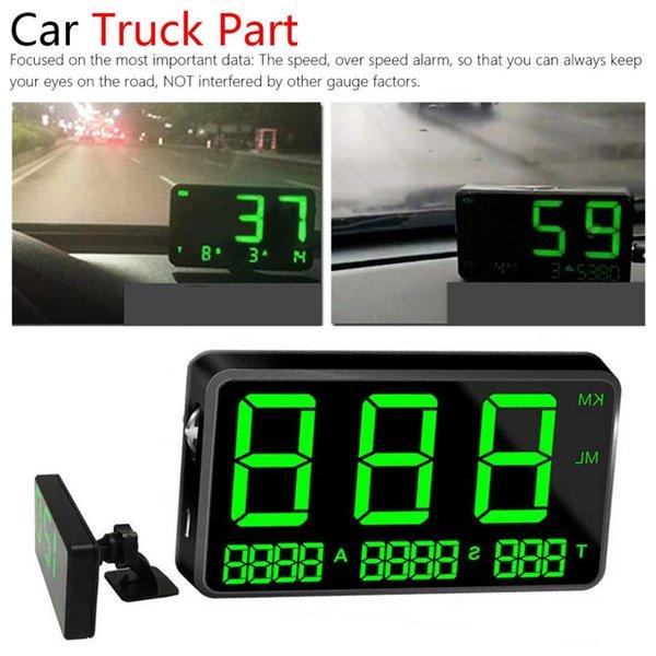 Une alarme voiture se dirige vers le haut compteur de vitesse GPS affichage de mesure de vitesse kilométrage altitude horloge affichage du pilote de voiture partie Gps Hud