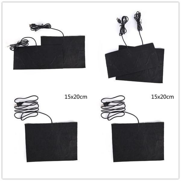 Karbon Fiber Isıtmalı Pedleri USB Isıtmalı Ceket Kaban Yelek Aksesuarları Sıcak Geri Boyun Hızlı Isıtma Boyutu S / M