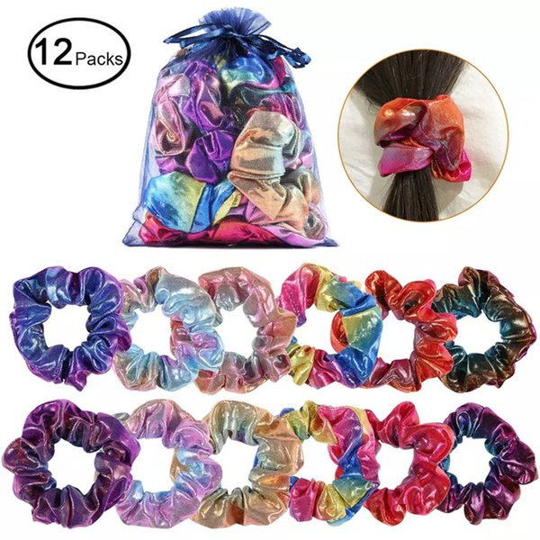 Free DHL 80+ Women Elegant Solid Elastic Hair Bands Ponytail Holder Scrunchies Tie Hair Rubber Band Girls Headband Lady Hair Accessories
