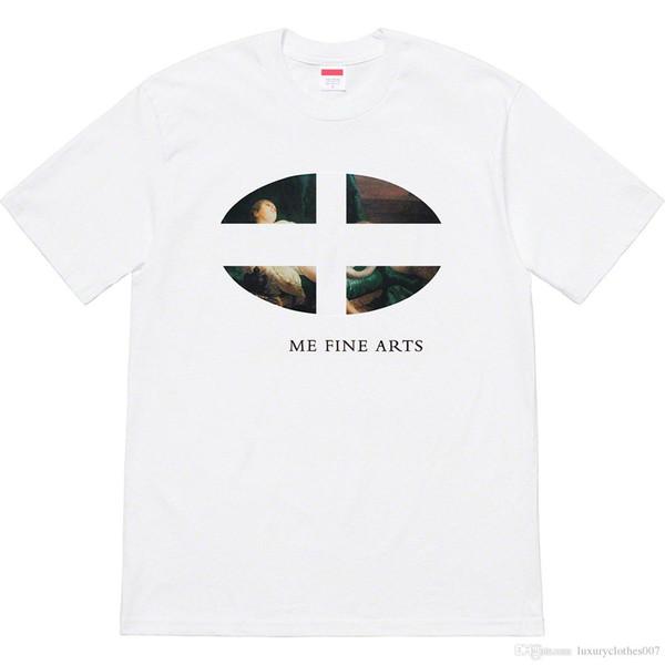 Boîte d'impression de luxe logo Hommes T-shirts Designer Leda et le T-shirt Swan Fille De marque Top Quality Street Hip-hop T-shirts