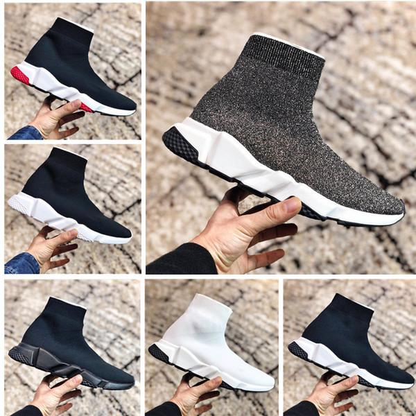 Paris Triple S casual scarpe da uomo fashion brand designer calzini signore speed trainer rosso tre strati nero calze sneakers ceevmb