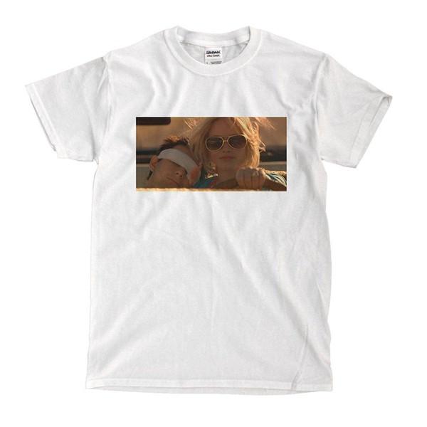 True Romance - Clarence and Alabama - Weißes T-Shirt Kurzarm T-Shirt Freies Verschiffen-Hemd Baumwolle Hight Qualitätsmann-T-Shirt