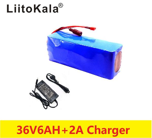 elektrikli bisiklet 42V 2A şarj PVC vaka ile 2019LiitoKala 36V 6AH 500W 18650 lityum pil 36V 8AH Elektrikli bisiklet batarya