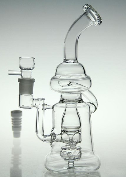 bongs! glass recycler new new brand bongs glass bubbler oil rig diamond glass pipe diffusion perc with Ceramic nail and bowl