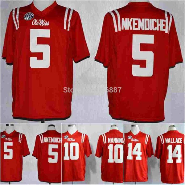 Factory Outlet- #5 Robert Nkemdiche,Ole Miss Rebels Anthentic NCAA College Football Jerseys,2014 New Cheap Jersey,Embroidery logos,Free Ship