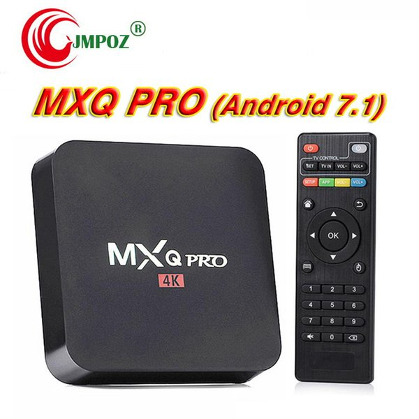 5 PCS MXQ Pro 4K Android 7.1 TV Box Quad Core Streaming Media Player support 3D IPTV 1080p DHL