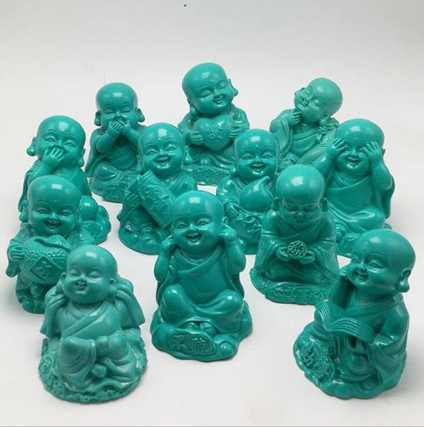 Supply high imitation turquoise small monk crafts jade crafts wholesale turquoise ornaments