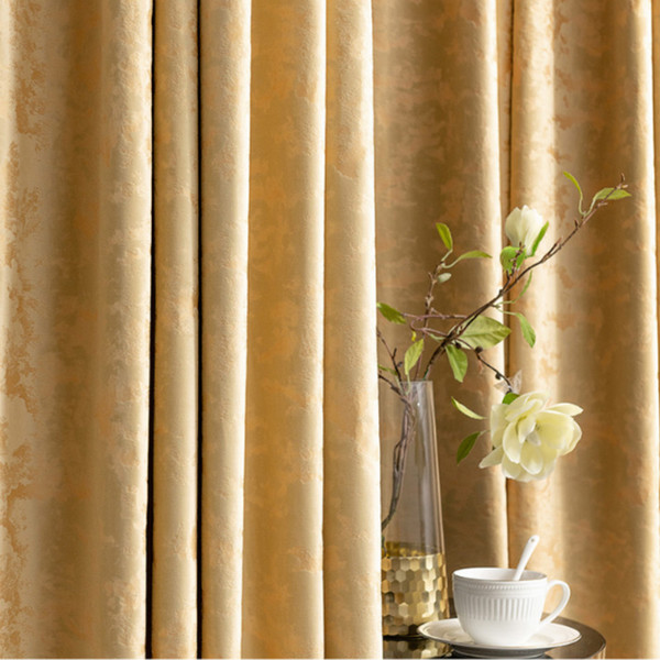 top popular Semi Blackout Curtains for Living Room Bedroom Luxury Velvet Curtain Solid Cortinas Dormitorio Insulating Drapes Golden Blinds 2021